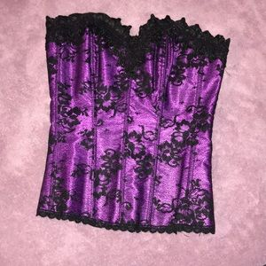 Frederick's lace up/hook corset